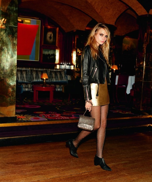 Cara Delevingne poses for the Topshop Christmas '14 campaign - 6 November 2014