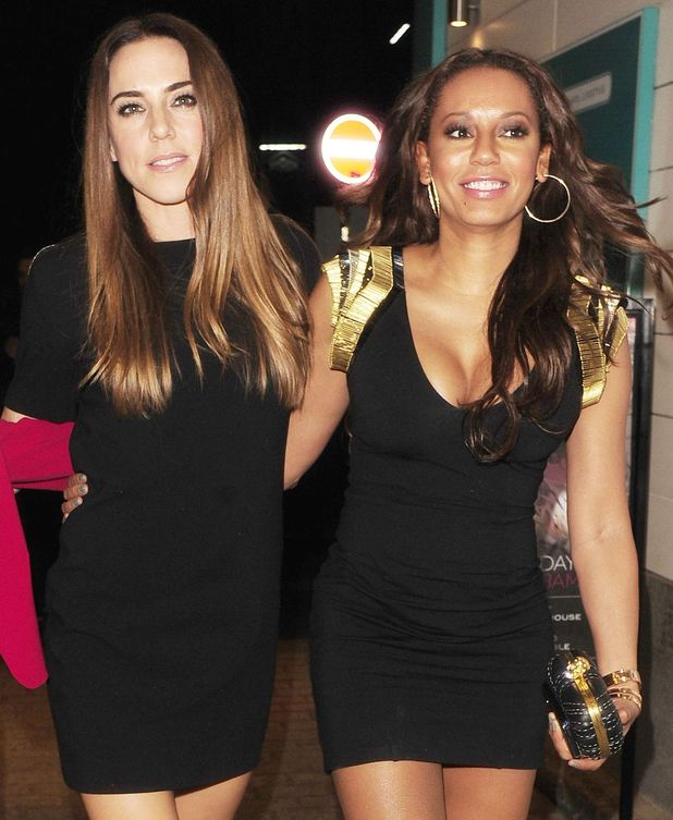 Mel B and Mel C Strictly Come Dancing crew party at Disco Nightclub, London, Britain - 21 Sep 2013.