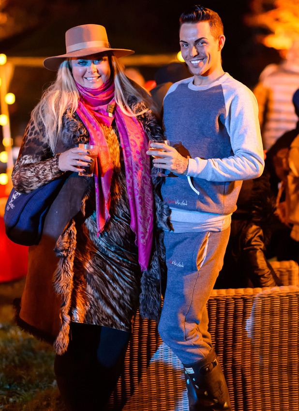 The Only Way is Essex cast filming, 'Bonfire Party', Georgia's House, Essex, Britain - 02 Nov 2014