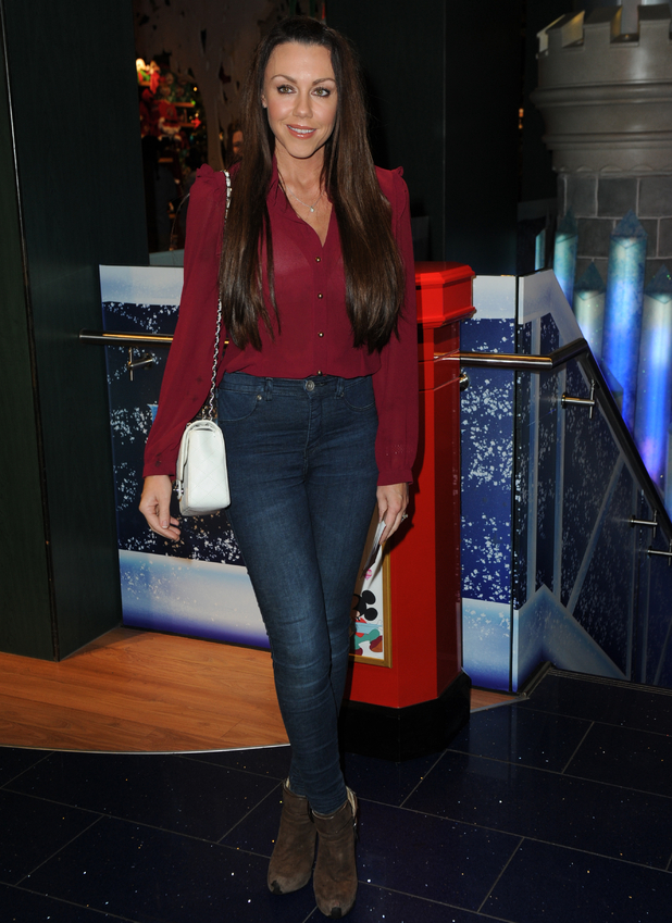 Michelle Heaton and family attend the Disney Store's Christmas party, Oxford Street, London 4 November