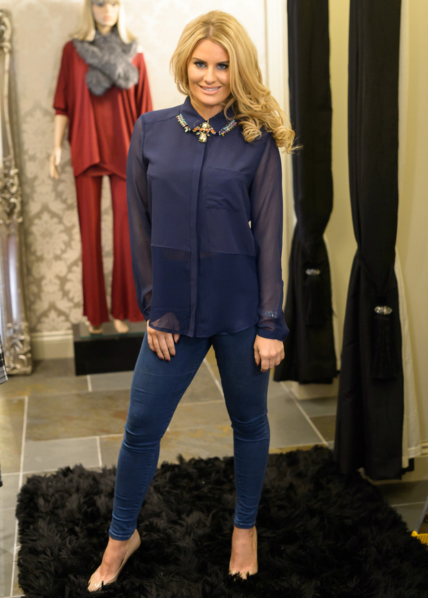 Danielle Armstrong films scenes for an episode of TOWIE in her clothing boutique - Hornchurch, Essex - 3 November 2014