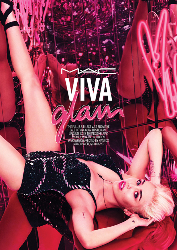 Miley Cyrus poses as the 2015 spokesperson for MAC's Viva Glam campaign - 3 November 2014