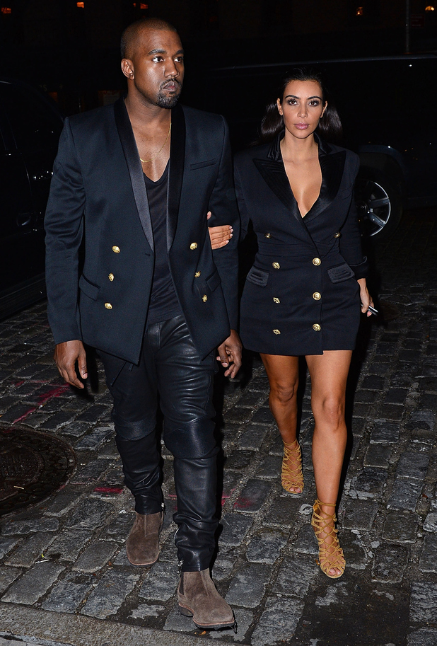 Kim Kardashian West and Kanye West head out in New York, America - 6 November 2014