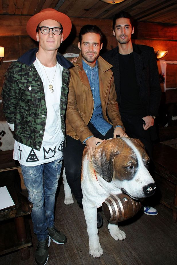 Made In Chelsea's Oliver Proudlock, Spencer Matthews and Hugo Taylor at the Skiing with Heroes Junior Committee Awareness Party, Bodos Schloss, London, Britain - 06 Nov 2014.