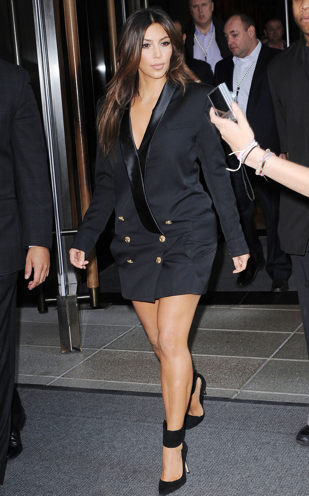 Kim Kardashian West steps out in New York, America - 13 September 2012