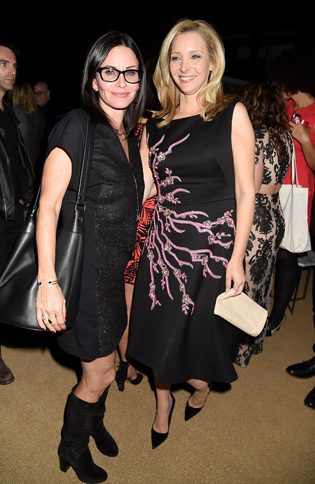 Courteney Cox (L) and Creator/Executive Producer/actress Lisa Kudrow attend the after party for the premiere of HBO's 'The Comeback' at the El Capitan Theatre on November 5, 2014 in Hollywood, California. (Photo by Jeff Kravitz/FilmMagic)