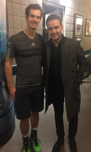 Liam Payne hangs out with Andy Murray after watching him at the ATP World Tour Finals - 11 November.