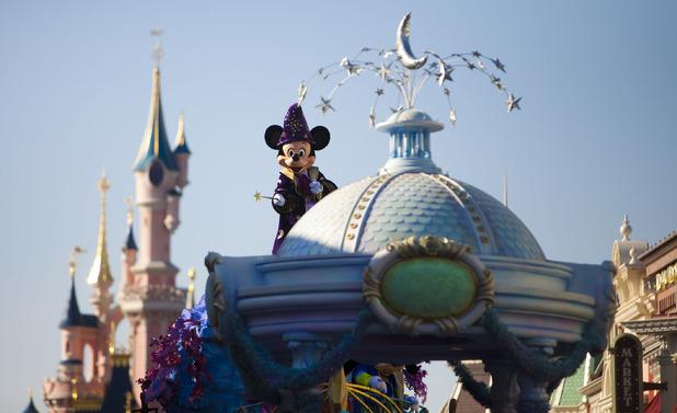 Disney parade show at Disneyland Paris. November 2014.