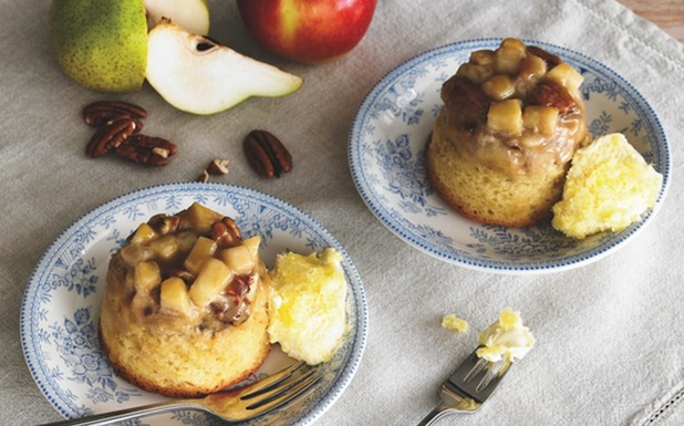 Apple and pear steamed pudding