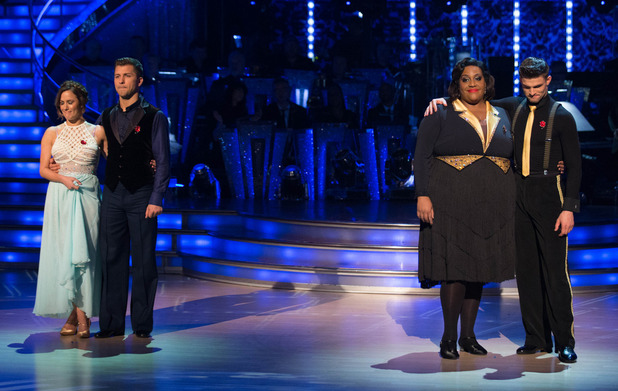 The bottom two couples on Strictly Come Dancing results show - Sunday 9th November 2014