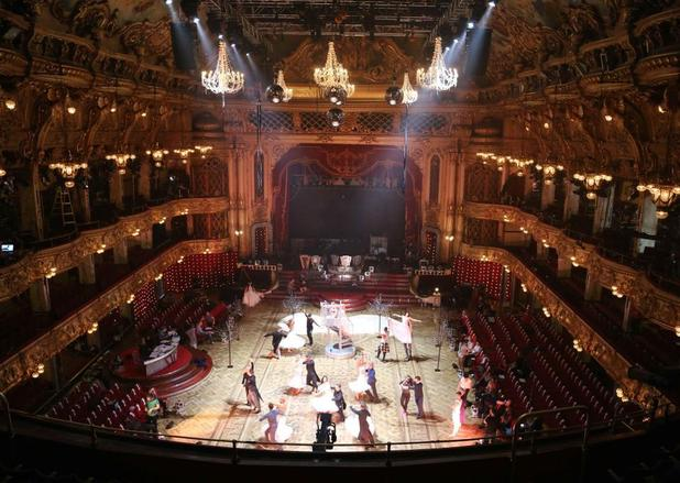 Strictly Come Dancing pairs practice at Blackpool Tower Ballroom - 14 Nov 2014