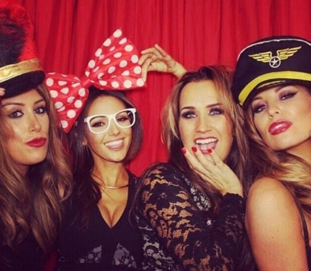 Jess Wright, Leah Wright and Michelle Keegan photobooth 13 November