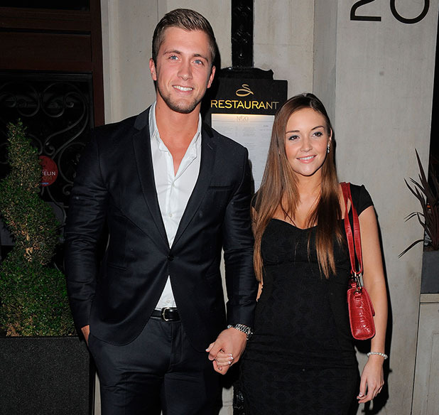 Dan Osborne and pregnant Jacqueline Jossa leave the Sanctum Soho Hotel in London, 11 November 2014