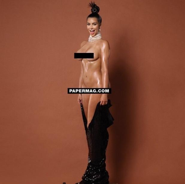 Kim Kardashian goes completely naked for Paper magazine - 13 Nov 2014