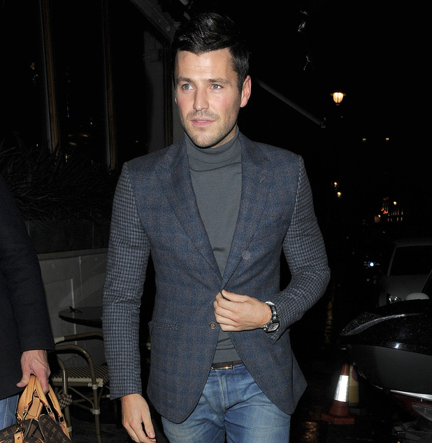 Mark Wright leaving Bootea Shake launch, Soho Sanctum Hotel, London 11 November