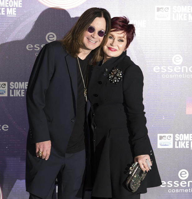 Sharon and Ozzy Osbourne at the 2014 MTV Europe Music Awards (EMA) in Glasgow, Scotland, on November 9, 2014.