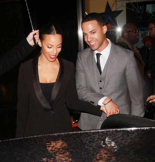 Rochelle Humes and Marvin Humes leaving the 'PandoraWishes' campaign launch, London, Britain - 12 Nov 2014