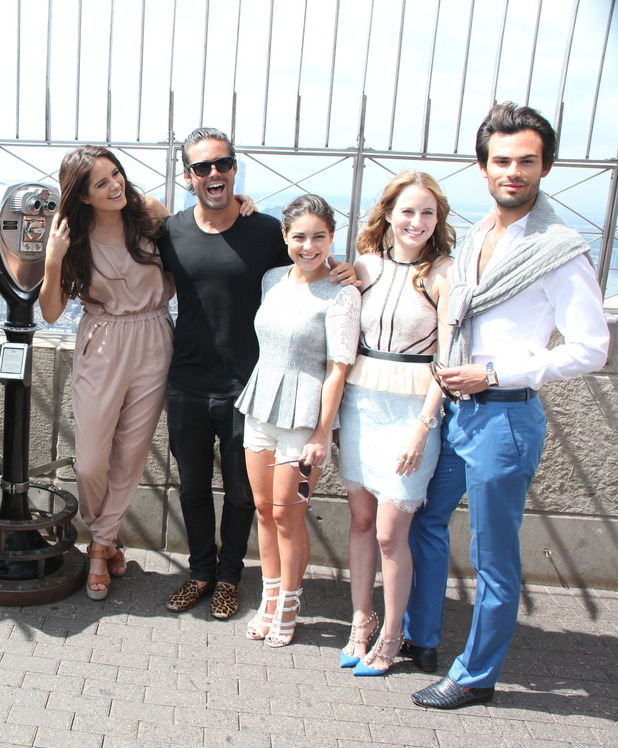 The cast of 'Made in Chelsea' visits the Empire State Building Observation Deck 27/06/14