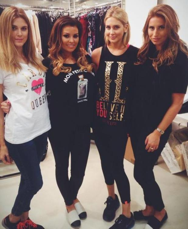 TOWIE's Jessica Wright and Ferne McCann hang out with MIC's Ashley James and Stephanie Pratt at the launch of Lipsy sports wear - 13 Nov 2014