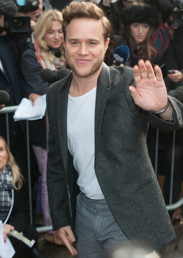 Olly Murs arrives to record Band Aid 30 at Sarm Studios in Notting Hill, 15 November 2014
