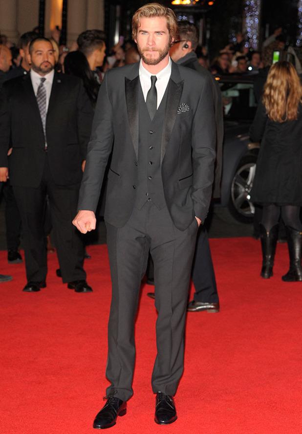 Liam Hemsworth, Hunger Games Mockingjay Part 1 premiere in London, 10 November 2014