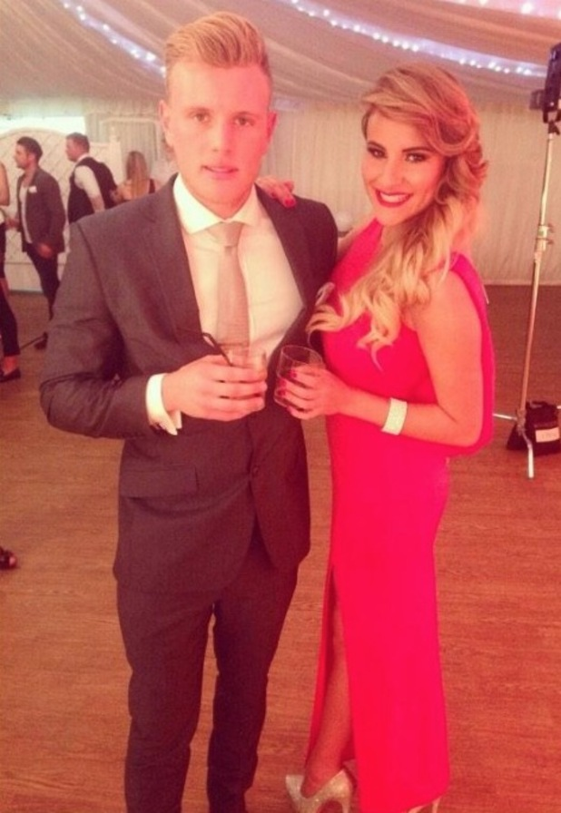 TOWIE's Georgia Kousoulou and Tommy Mallet at series finale party - 9 November 2014.