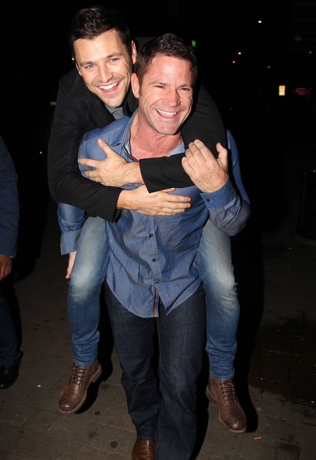 Mark Wright arrives at the Strictly Come Dancing after party in Blackpool on a bizarre mode of transport - Steve Backshall's back! 15 November 2014