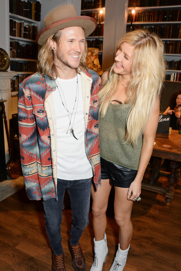 Dougie Poynter and Ellie Goulding attend The London 2014 Stella McCartney Green Carpet Collection during London Fashion Week at The Royal British Institute on September 14, 2014 in London, England.
