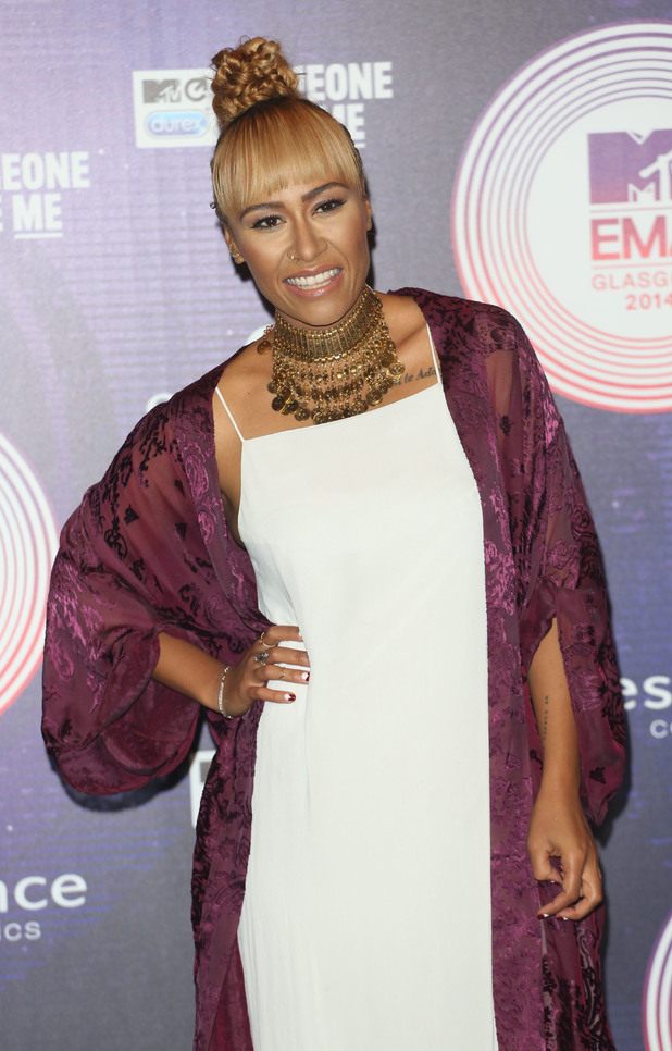 Emeli Sandé shows off her new braided hairstyle at the MTV Europe Music Awards in Glasgow - 9 November 2014