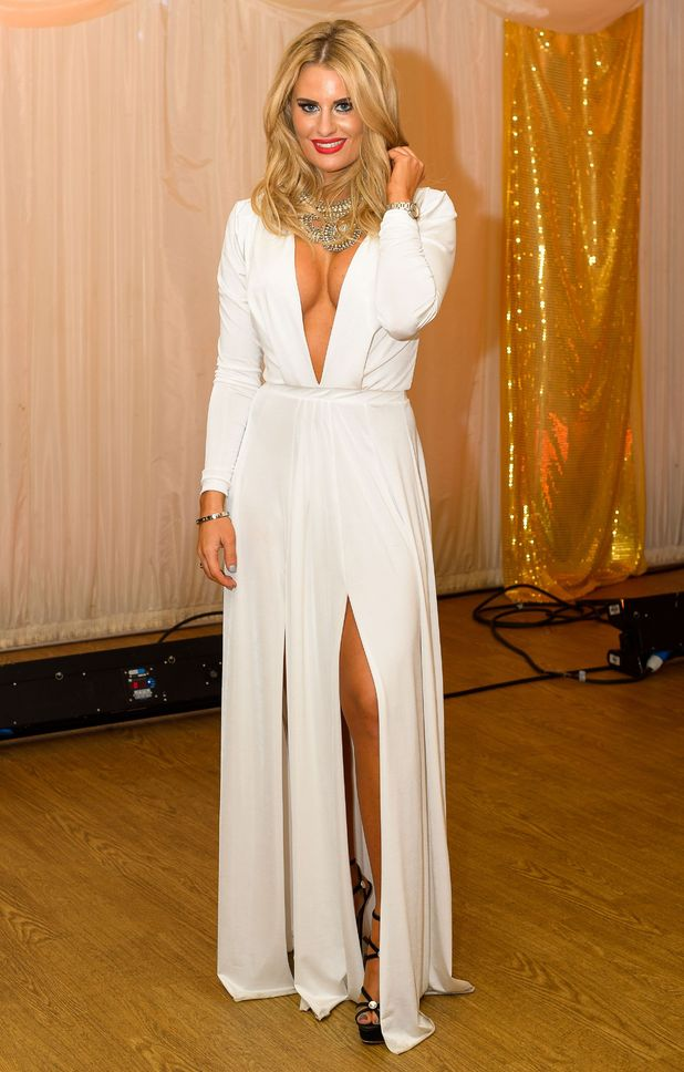 Danielle Armstrong attends a charity ball at Quendon Hall for the TOWIE season finale - 9 November 2014