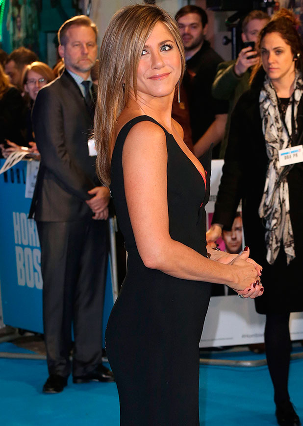 Jennifer Aniston attends world premiere of Horrible Bosses 2 in London, 12 November 2014
