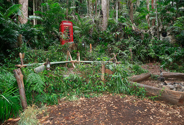 'I'm a Celebrity Get Me Out of Here' TV Programme, Australia. - 13 Nov 2014 Behind the scenes, Camp, Telephone Kiosk