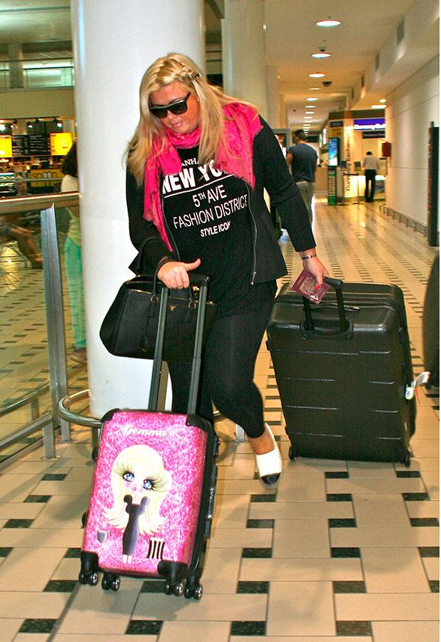 Gemma Collins at Brisbane International Airport, Australia - 11 Nov 2014