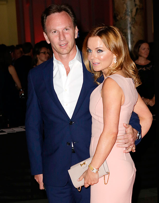 Geri Halliwell and Christian Horner attend The F1 Party in aid of Great Ormond Street Hospital - Arrivals, 1 July 2014