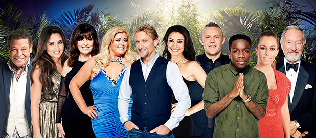 I'm A Celebrity¦Get Me Out Of Here! returns with its 14th series. Picture shows:( l-r) Craig Charles, Nadia Forde, Vicki Michelle, Gemma Collins , Carl Fogarty, Mel Sykes, Jimmy Bullard Tinchy Stryder, Kendra Wilkinson, and Michael Buerk