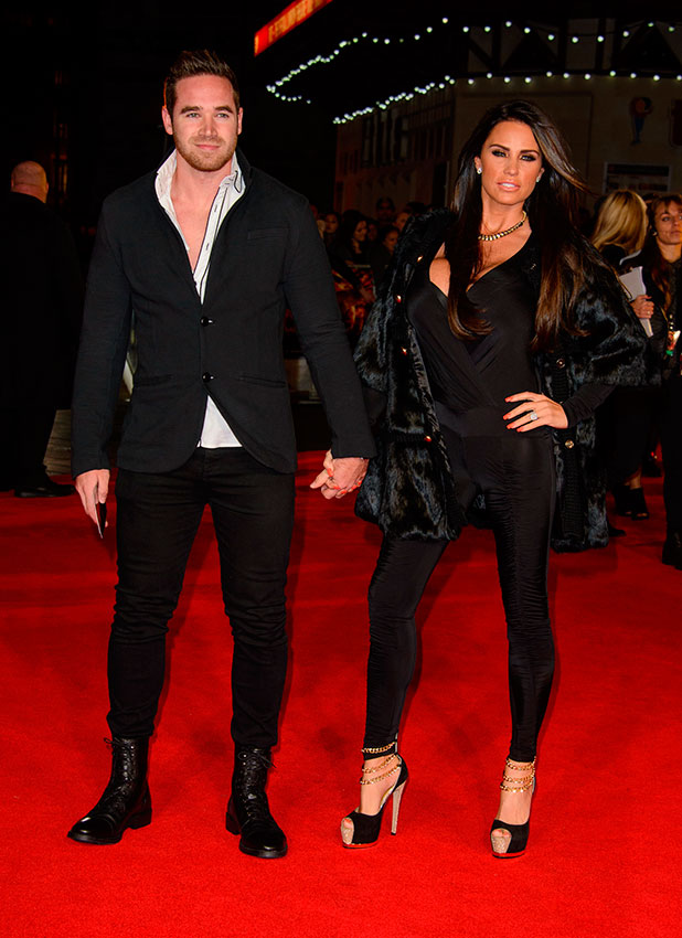Katie Price and Kieran Hayler at The Hunger Games: Mockingjay Part 1 World Premiere at Odeon Leicester Square - Arrivals, 10 November 2014