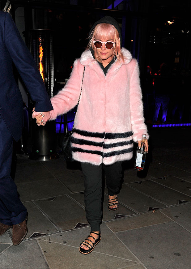 Lily Allen and husband Sam Cooper at SushiSamba restaurant as it celebrates 2nd anniversary party, London, 11 November 2014
