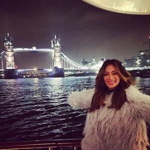 Nicole Scherzinger boat trip on River Thames 20 November