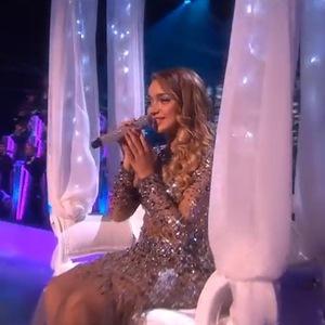 Lauren Platt on The X Factor - Big Band week - 16 November 2014.