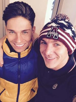 TOWIE's Joey Essex and Kirk Norcross reunite in Essex - 18 November 2014