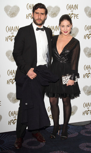 Louise Thompson and Alik Alfus attend the Chain of Hope's 2014 Gala Ball at the Grosvenor House hotel, 21/11/2014