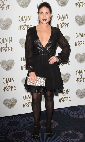 Louise Thompson attends the Chain of Hope's 2014 Gala Ball at the Grosvenor House hotel, 21/11/2014