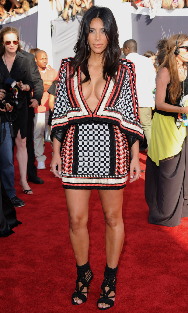 Kim Kardashian West attends the 2014 MTV Video Music Awards in California, America - 24 August 2014