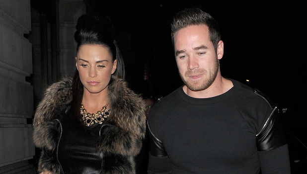 Katie Price aka Jordan, arriving at Novikov restaurant in Mayfair, with husband Kieran Hayler