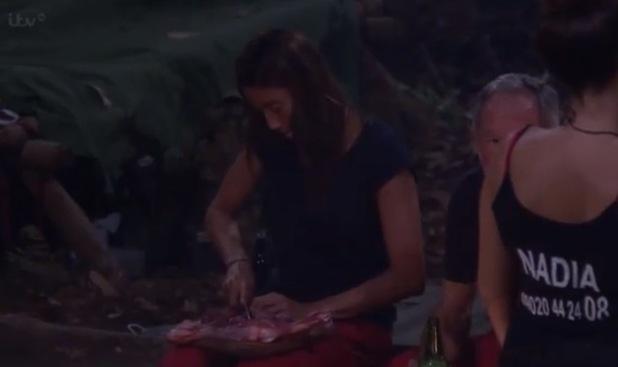 Melanie Sykes cooks dinner in the jungle - 20 November 2014