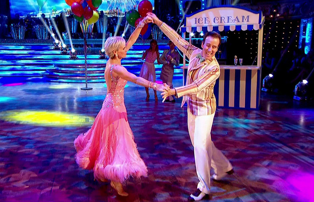 Judy Murray performs the Viennese Waltz on Strictly Come Dancing 15 November