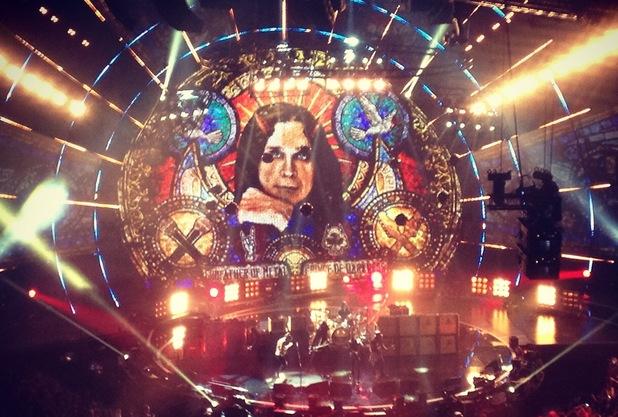 Ozzy Osbourne tribute, MTV EMAs, Glasgow 9 November