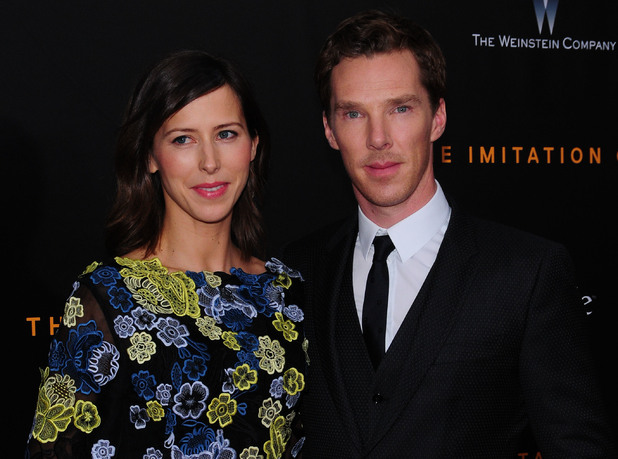 Benedict Cumberbatch and fiancee Sophie Hunter, The Imitation Game premiere, New York 17 November