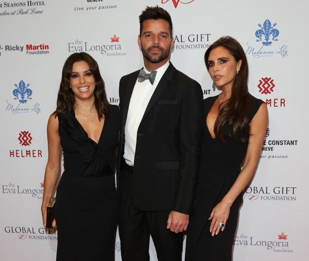Victoria Beckham, Eva Longoria, Ricky Martin at the Global Gift Gala London 2014 held at the Four Seasons hotel - Arrivals London, United Kingdom 17 November 2014.