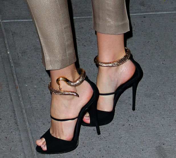 Miranda Kerr wears high heels with snake decorations while out in New York - 20 November 2014